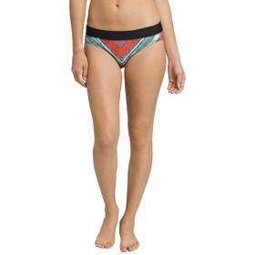 Prana Ramba Bikini Broekje Dames, zwart/rood